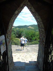 Panorama dal Castello di Montesegale.