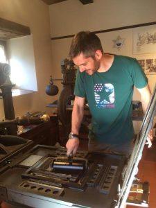 Come uno stampatore del XIX secolo.