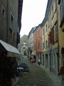 La via Francigena che attraversa Berceto.