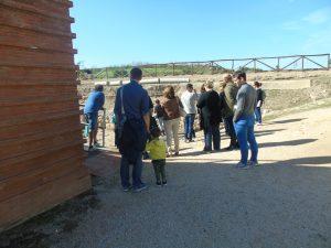 Famiglie al Museo: un momento della visita all'area archeologica.