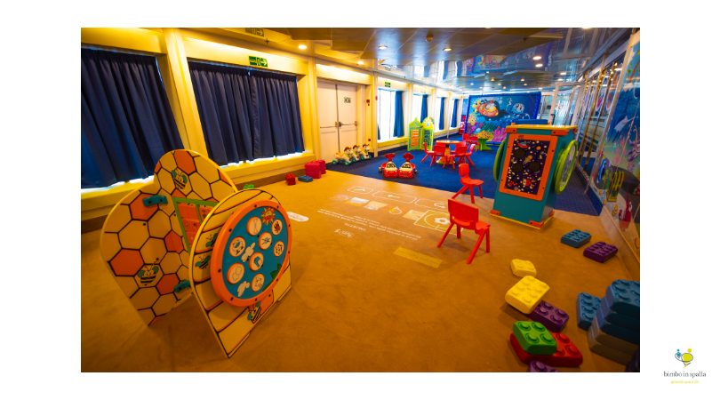 servizi family friendly sulle navi gialle