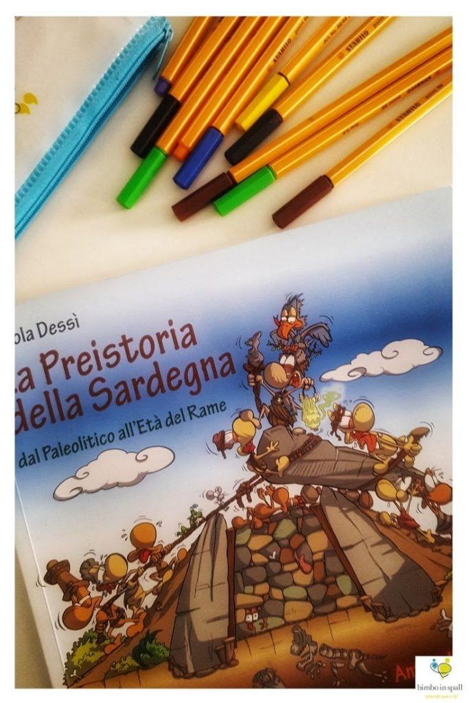 La Preistoria della Sardegna libro per bambini
